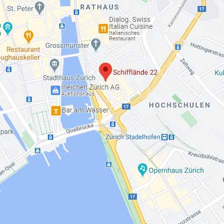 Map / Karte zur Rechtsanwältin / Kanzlei